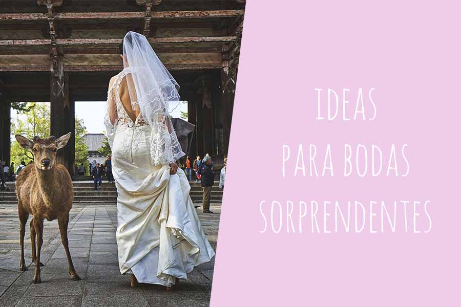 ideas para bodas sorprendentes