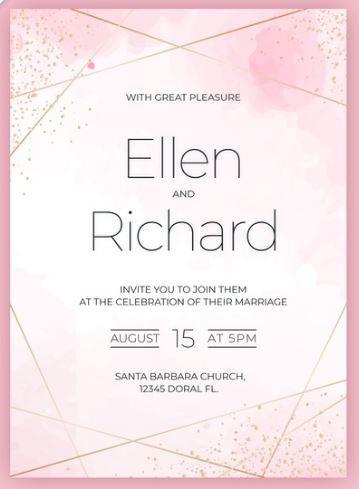Invitaciones de boda para descargar